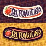 Vector logos for Tomatina festival Royalty Free Stock Photos