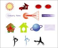Vector logotypepatroon stock foto's
