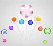 Vector lollipops Stock Photos