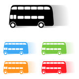 Vector london bus Royalty Free Stock Photography