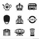 Vector London icon set Royalty Free Stock Photos