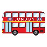 Vector London Red Bus. Vector Red Double Decker. London bus vector illustration Royalty Free Stock Images