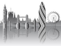 Vector London skyline Royalty Free Stock Images