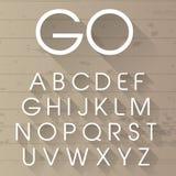Vector long shadow alphabet. Vector illustration of a golden alphabet Royalty Free Stock Photo