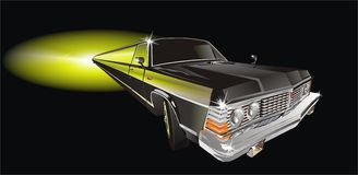 Vector long vintage limo stock illustration