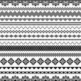 Vector los cepillos inconsútiles para los marcos, divisores, fronteras Foto de archivo