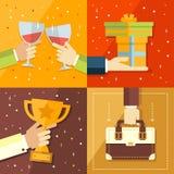 Vector los conceptos del éxito ruedan, meta, medalla, cumbre stock de ilustración