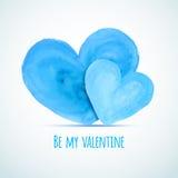 Vector los corazones de la acuarela para el día de la tarjeta del día de San Valentín del par homosexual stock de ilustración