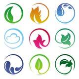 Vector los elementos del diseño con las muestras de la naturaleza stock de ilustración
