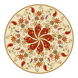 Vector los elementos del diseño en un estilo oriental tradicional Imagen de archivo libre de regalías
