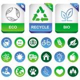 Vector los elementos del infographics de la ecología Imagen de archivo libre de regalías