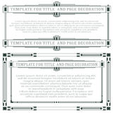 Vector los elementos para el diseño de diploma, de anuncios y de otras tarjetas Foto de archivo libre de regalías
