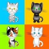 Vector los gatos británicos de varios colores Fotos de archivo