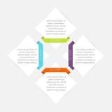 Vector los gráficos coloridos de la información para sus presentaciones del negocio Foto de archivo