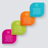 Vector los gráficos coloridos de la información para sus presentaciones del negocio Foto de archivo libre de regalías