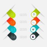Vector los gráficos coloridos de la información para sus presentaciones del negocio Imagen de archivo libre de regalías