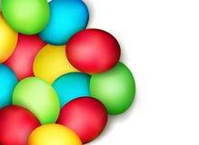 Vector los huevos de Pascua pintados   Fotografía de archivo libre de regalías