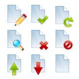 Vector los iconos de documento imágenes de archivo libres de regalías