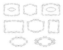 Vector los marcos decorativos Imagen de archivo libre de regalías