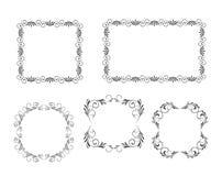 Vector los marcos decorativos Fotografía de archivo libre de regalías