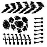 Vector los movimientos negros hechos a mano hermosos pintados por el cepillo Imágenes de archivo libres de regalías