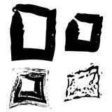 Vector los movimientos negros hechos a mano hermosos pintados por el cepillo Imagen de archivo