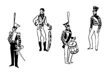Vector a los oficiales de la ilustración Imagen de archivo