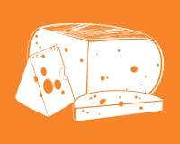 Vector los pedazos de queso Fotos de archivo