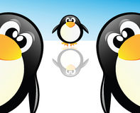 Vector los pingüinos