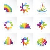 Vector los símbolos coloridos Fotografía de archivo libre de regalías