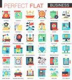 Vector los símbolos planos complejos del concepto del icono del vector moderno del negocio para el diseño infographic del web Fotos de archivo
