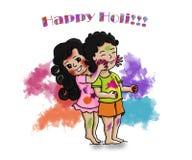 Vector los saludos de Holi - el festival más colorido de la India foto de archivo libre de regalías