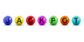 Vector lottery balls with jackpot text. Isolated on white background. Lottery balls with jackpot text. Isolated on white background. Vector illustration vector illustration