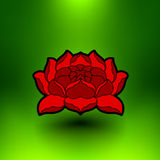Vector lotus flower Royalty Free Stock Image