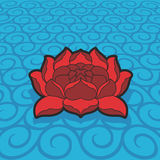 Vector lotus flower. EPS 8.0 file available royalty free illustration