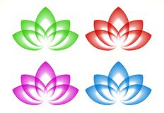 Vector lotus logo stock photo