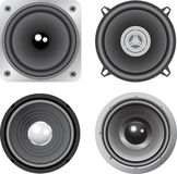 Vector loudspeaker. Black and white vector loudspeaker Royalty Free Stock Photos