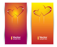 Vector love banners. Love stories Royalty Free Stock Photography