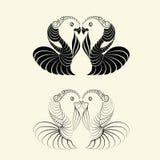 Vector love bird shape Royalty Free Stock Photography
