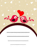 Vector love birds concept card Stock Photos