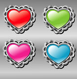 Vector love buttons Stock Photography