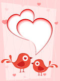 Vector love card Stock Images