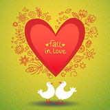 Vector love card for Valentine's day. Royalty Free Stock Photo
