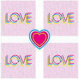 Vector love colorful poster Royalty Free Stock Image