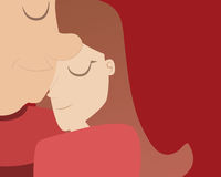 Vector of Love couple hug .Valentine Royalty Free Stock Photo