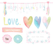 Vector of love elements Stock Photography