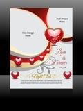 Vector love Flyer Design Royalty Free Stock Photo