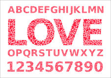 Vector love font Royalty Free Stock Photography