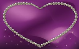 Vector Love Frame Pearl Royalty Free Stock Photo