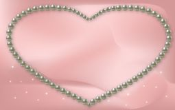Vector Love Frame Pearl Stock Photography